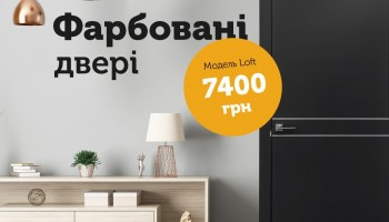 АКЦИЯ! Модели серии LOFT В ПОКРАСКЕ цена 7400 грн дверной блок с фурнитурой