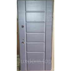К-8 мод. 117 Дуб Грифель горизонт/ Дуб Пломбир горизонт Входная дверь